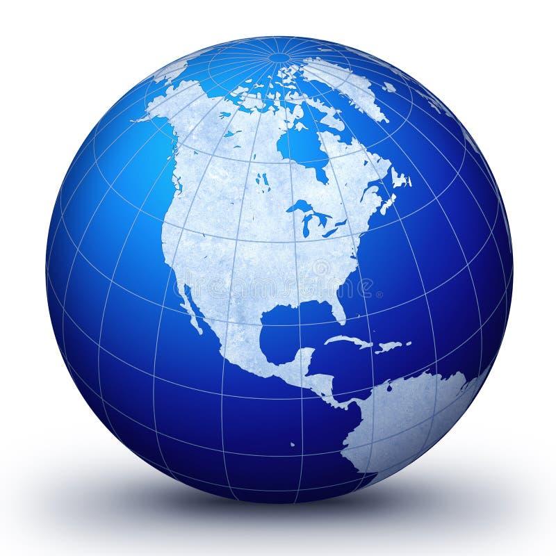 monde bleu illustration libre de droits