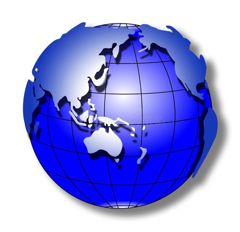 Monde bleu de rappe illustration de vecteur