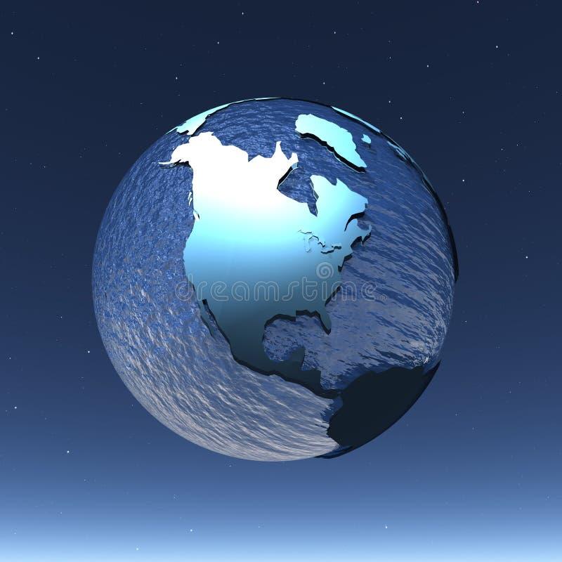 Monde brillant illustration libre de droits