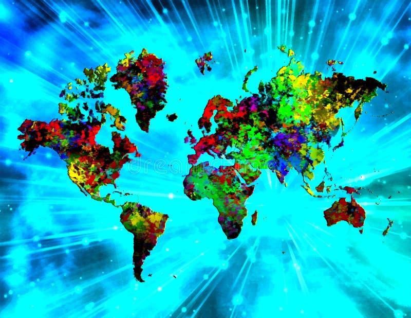Monde coloré illustration de vecteur