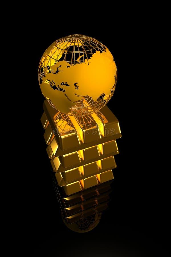 monde d'or illustration stock