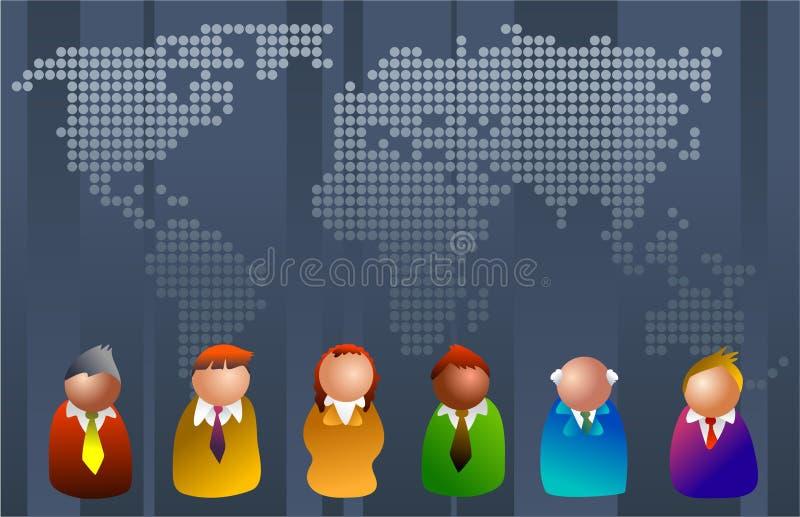 Monde d'affaires illustration stock