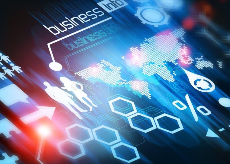 Monde d'affaires connecté illustration stock