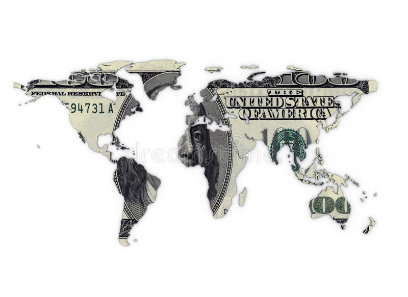 Monde d'argent illustration de vecteur