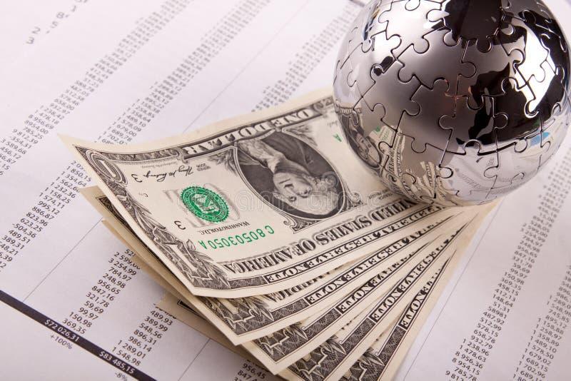 Monde d'argent image stock