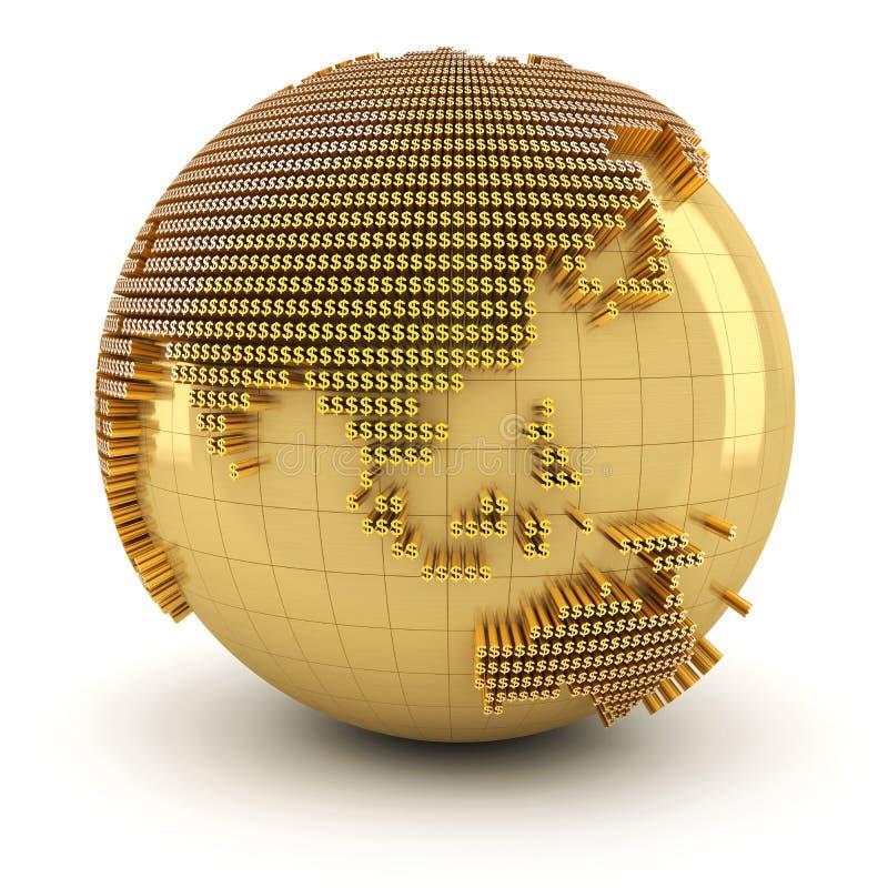 Monde d'argent, région asiatique illustration de vecteur