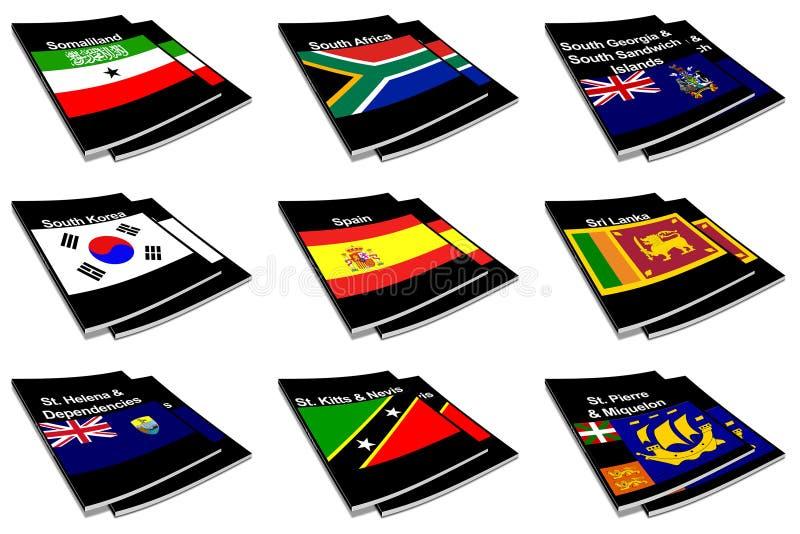 monde d'indicateur de ramassage de livre 26 illustration de vecteur