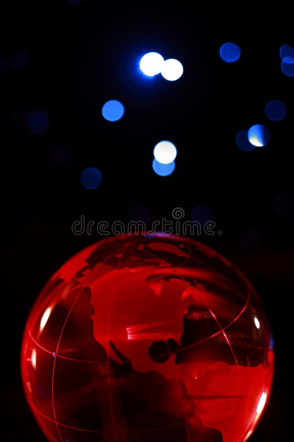 Monde d'un rouge ardent ! photo stock