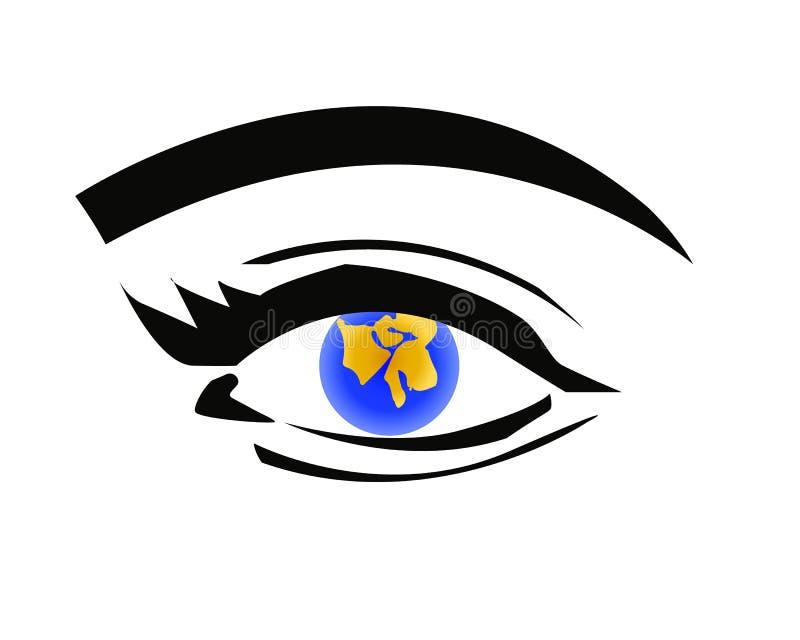 Monde dans l'oeil images libres de droits