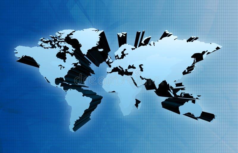 Monde dans la carte 3d illustration stock