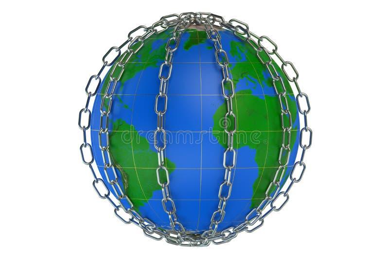 Monde dans les réseaux illustration libre de droits