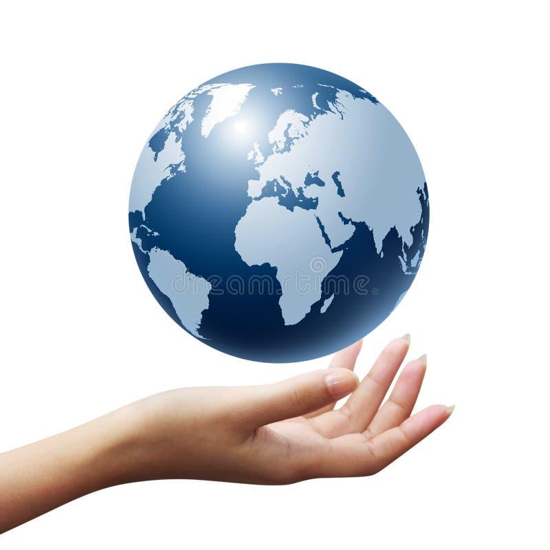 Monde dans votre main illustration stock