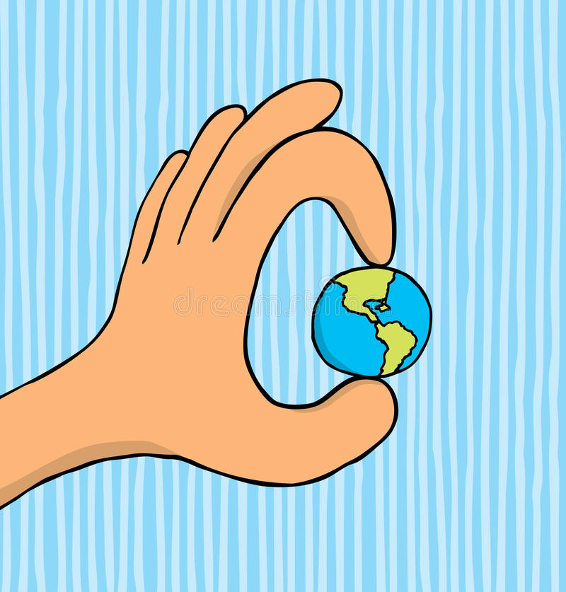 Monde dans votre main illustration de vecteur