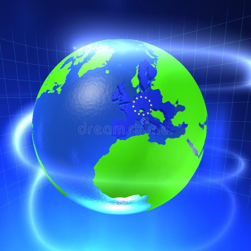 monde de 3d l'Europe illustration stock