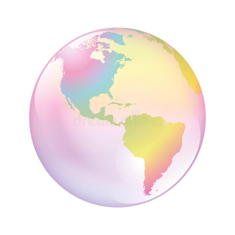 Monde de bulle de la terre illustration de vecteur
