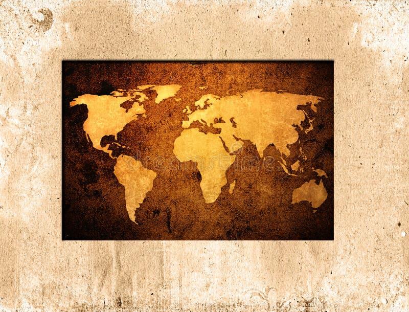 monde de carte illustration de vecteur