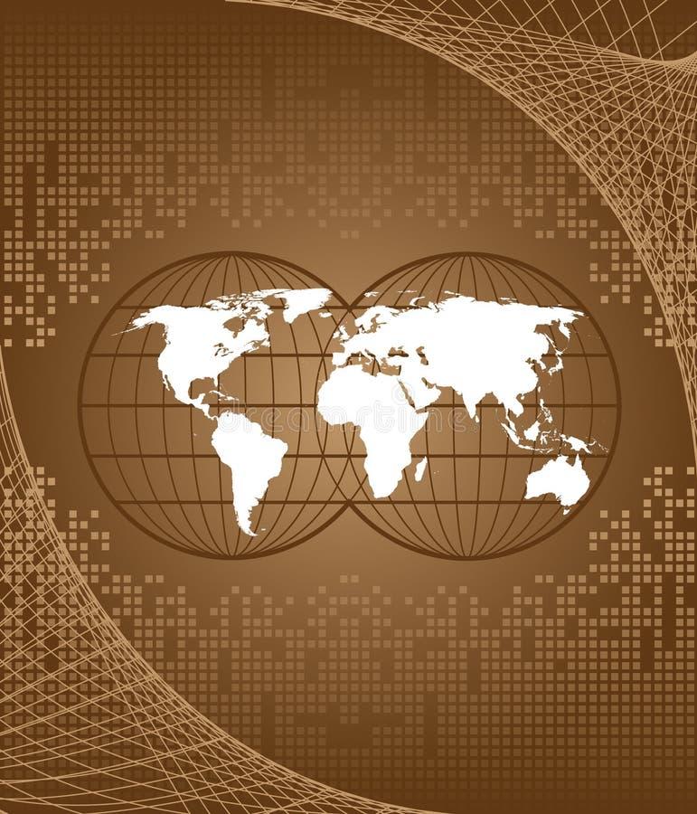 Download Monde de carte illustration de vecteur. Illustration du géographie - 8651446
