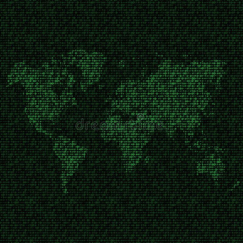 monde de carte de code binaire illustration libre de droits