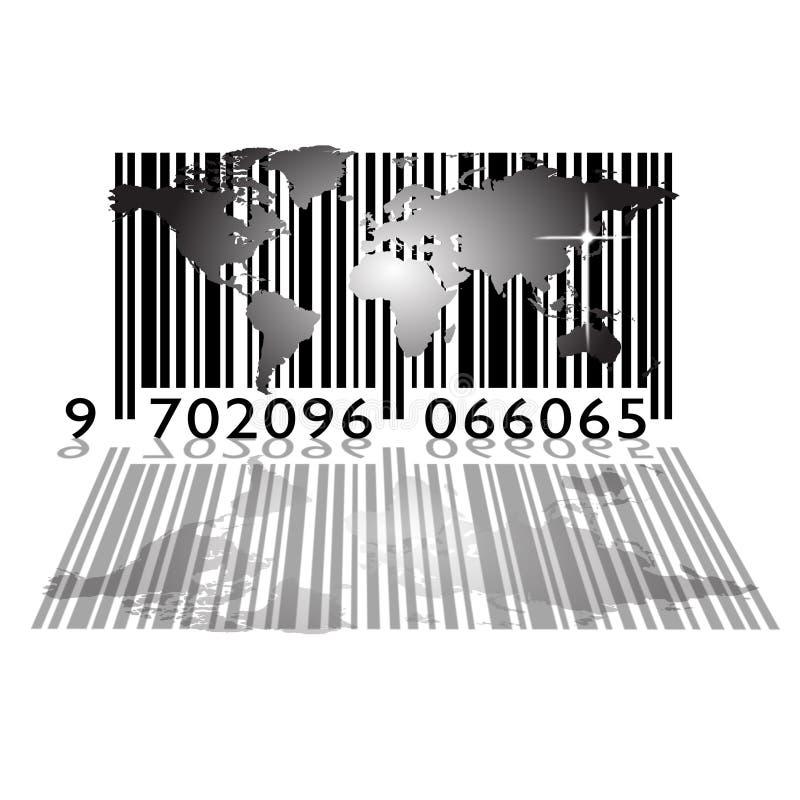 Monde de code à barres illustration de vecteur