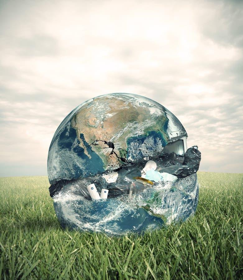 Monde de déchets photographie stock