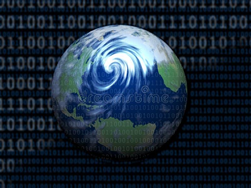 Monde de Digitals illustration stock