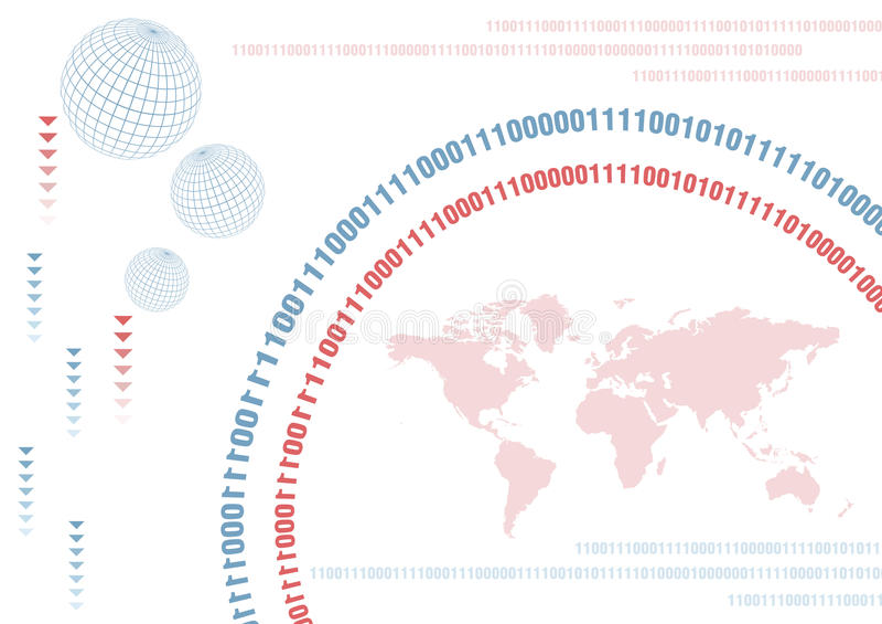Monde de Digitals illustration de vecteur