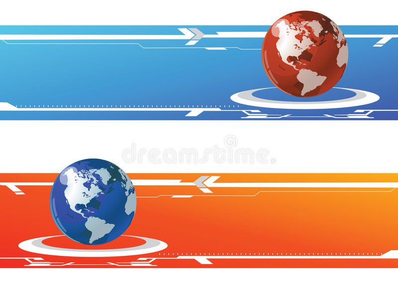 monde de drapeau illustration de vecteur