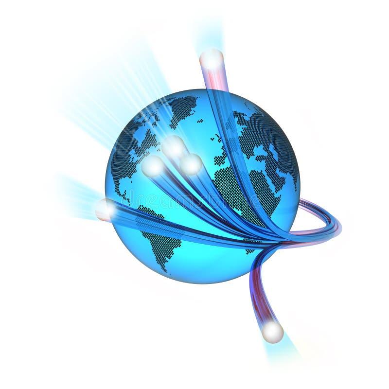 Monde de fibre illustration stock