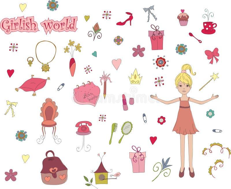 Monde de fille illustration libre de droits