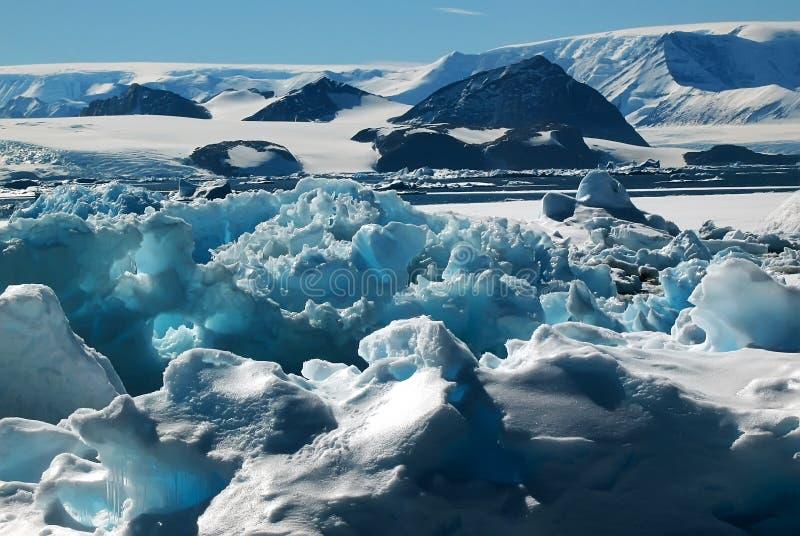 Monde de glace image stock