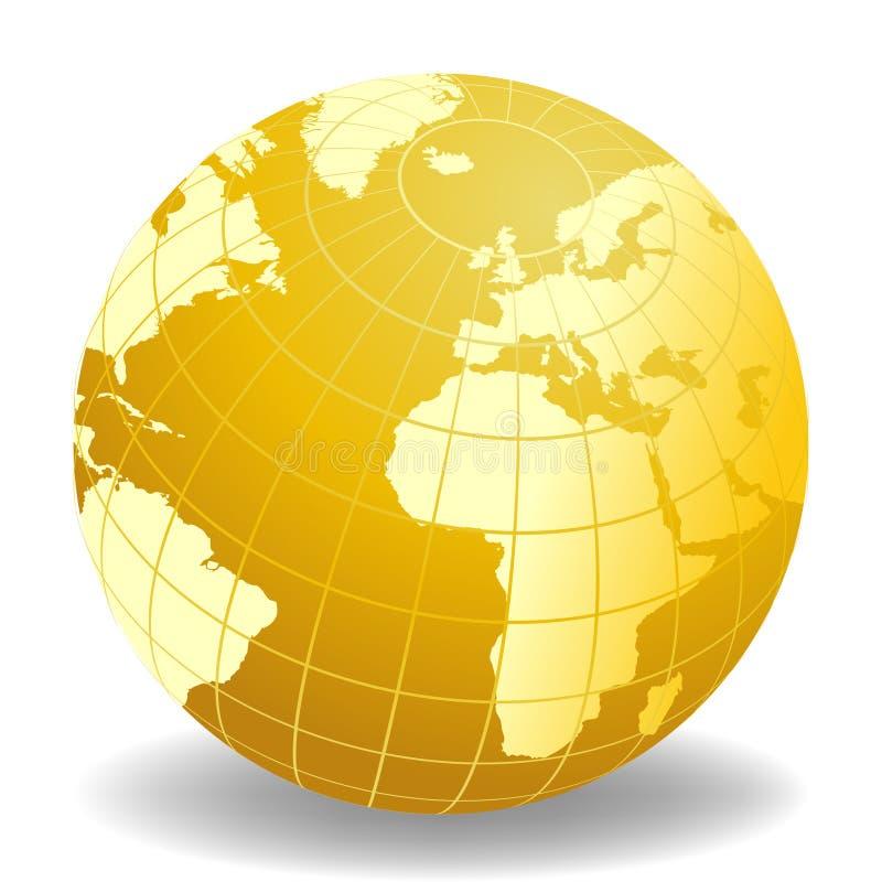 monde de globe de l'Afrique l'Europe illustration de vecteur