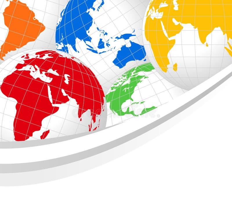 Download Monde de globes illustration de vecteur. Illustration du amérique - 8667969