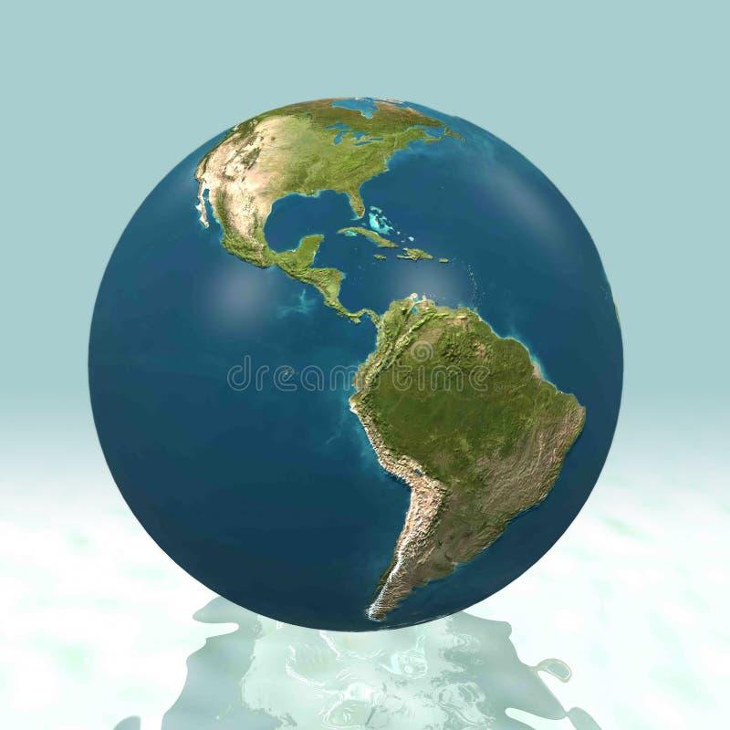 Monde de l'Amérique latine 3D image libre de droits