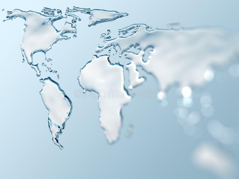 Monde de l'eau photo stock