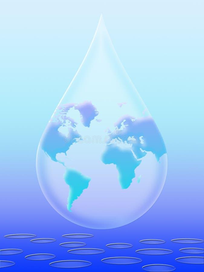 monde de l'eau illustration stock