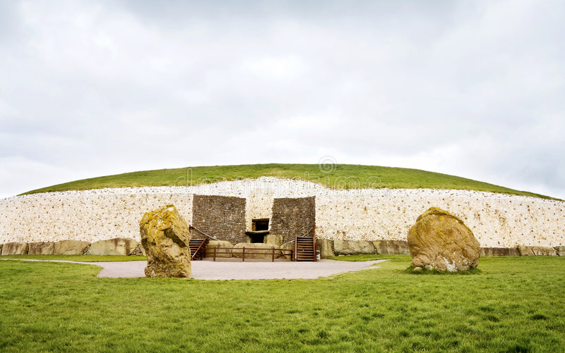 monde de l'UNESCO de newgrange de l'Irlande d'héritage photographie stock libre de droits