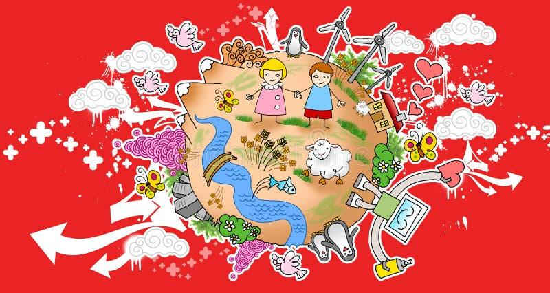monde de la paix 01 illustration stock