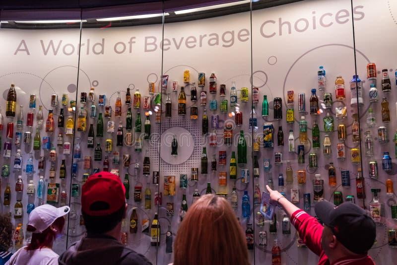 Monde de musée de coca-cola à Atlanta la Géorgie Etats-Unis photographie stock libre de droits