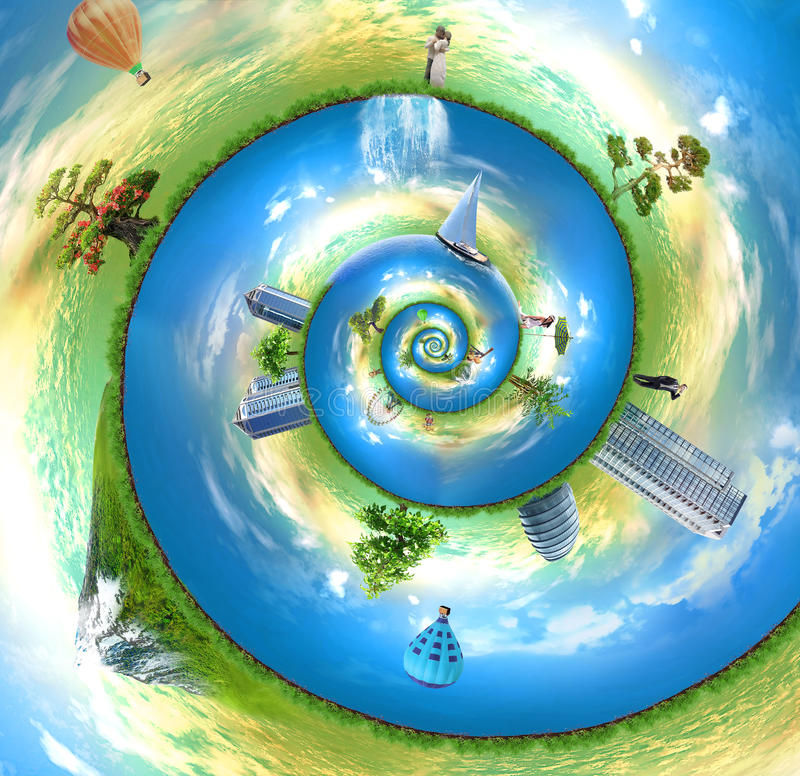 monde de nautilus illustration libre de droits