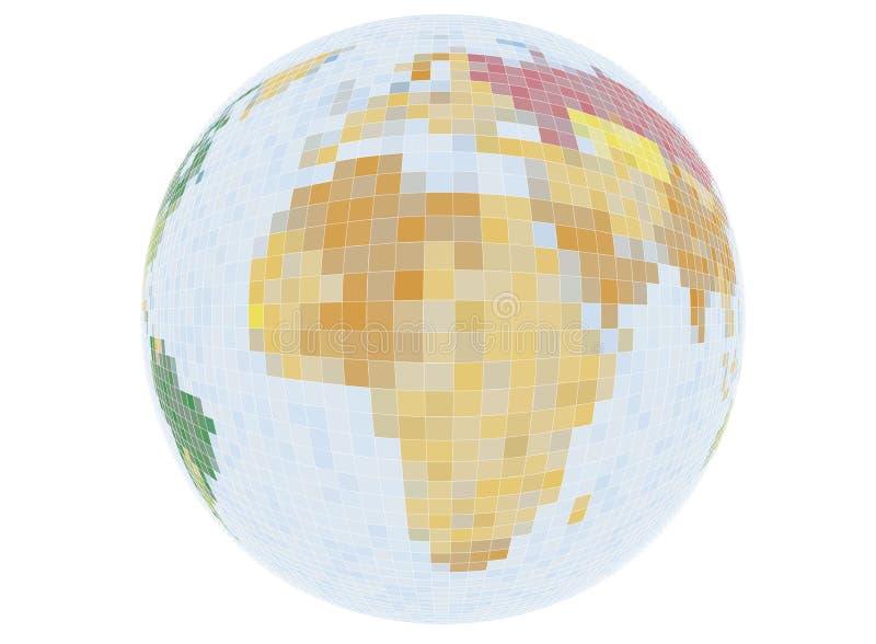Monde de Pixel de vecteur illustration stock