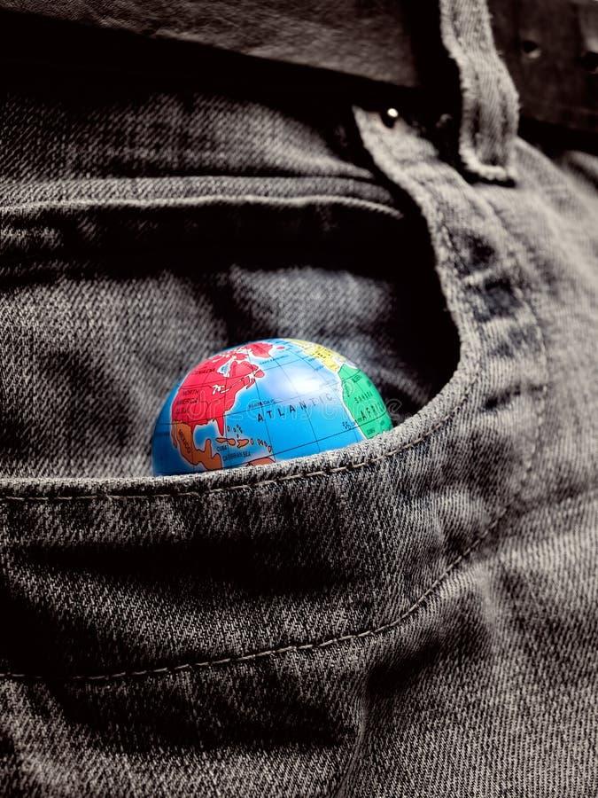 Monde de poche images libres de droits