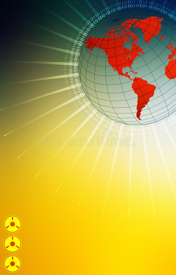 Monde de pointe illustration libre de droits