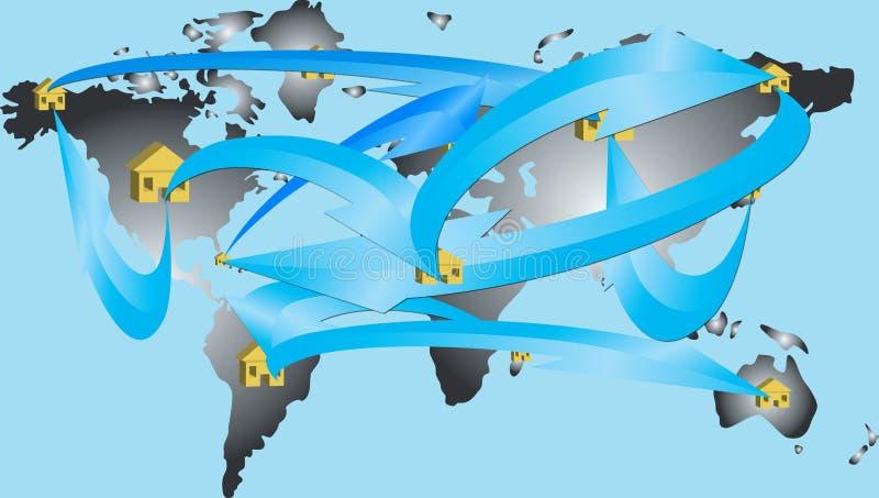 Monde de réseau images libres de droits