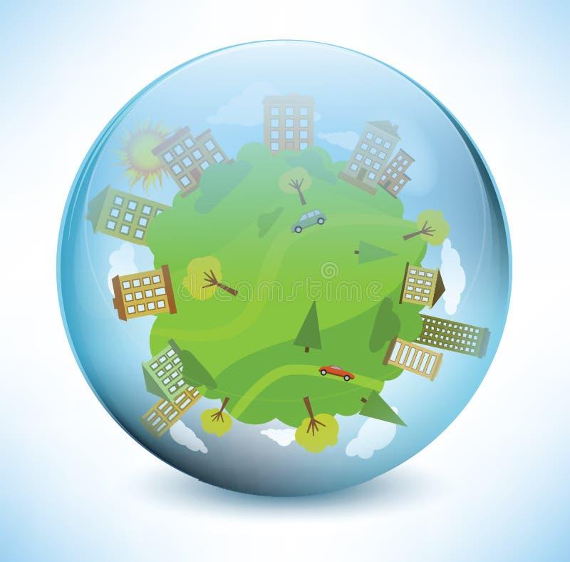 Monde de sphère illustration de vecteur