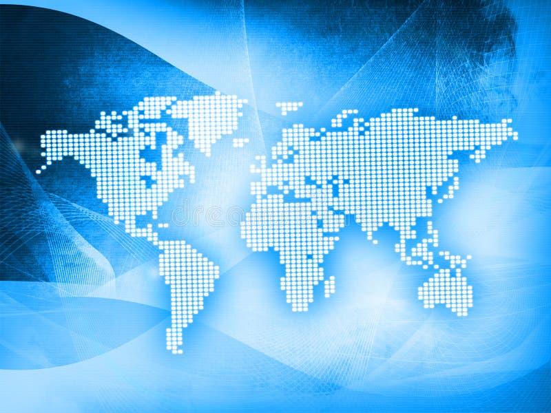 monde de technologie de type de carte illustration libre de droits