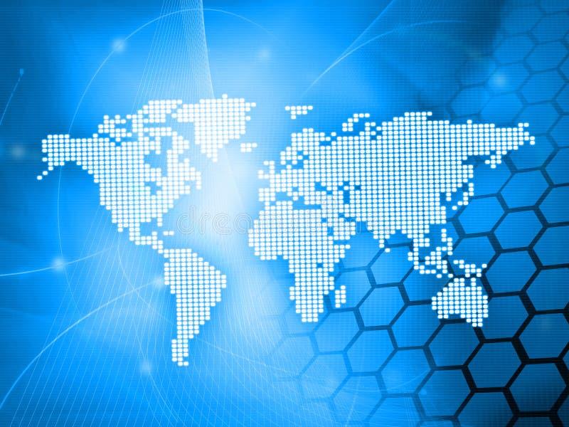 monde de technologie de type de carte illustration de vecteur