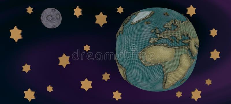 Monde de tissu illustration stock