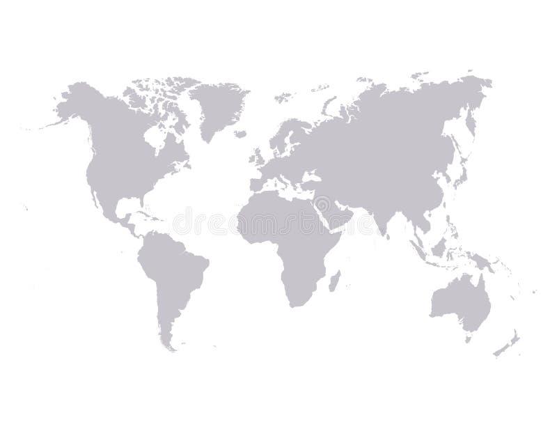 monde de vecteur de carte illustration de vecteur