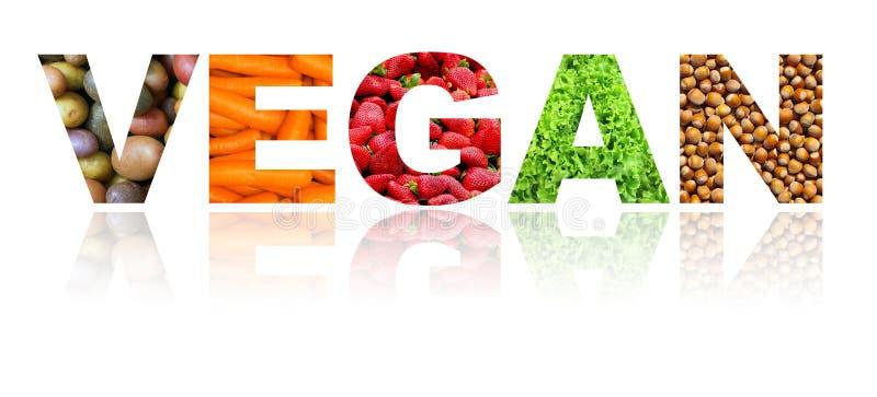 Monde de Vegan avec des fruits, des écrous et des légumes sur le fond blanc images libres de droits