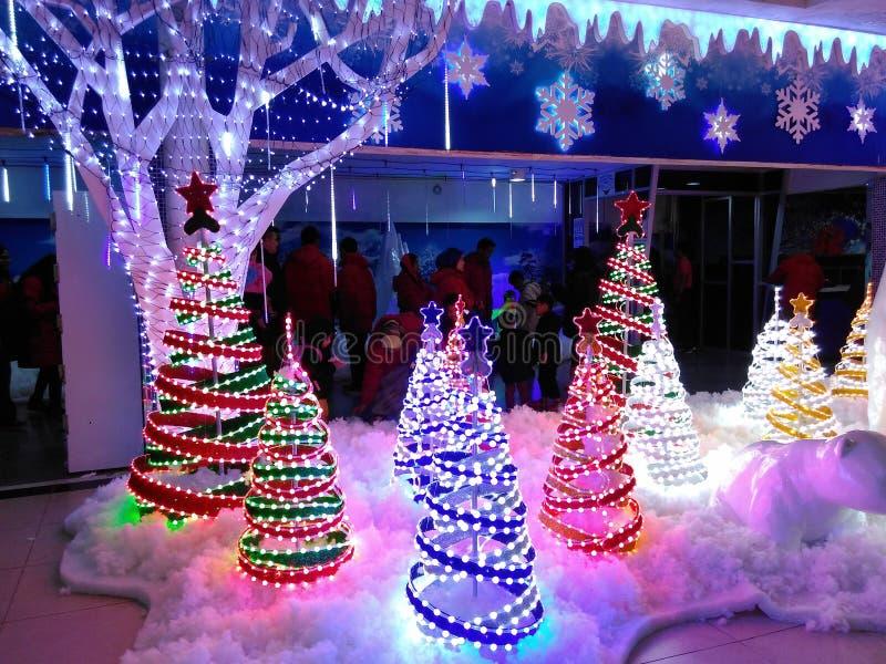 Monde de ville de glace chez Kuala Lumpur Christmas photos stock